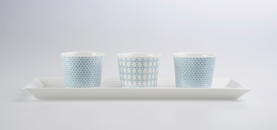 Nordic pattern inspired vessels